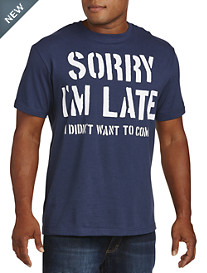 Sorry I'm Late Stencil Graphic Tee