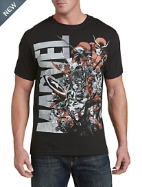 Marvel Pile Up Graphic Tee