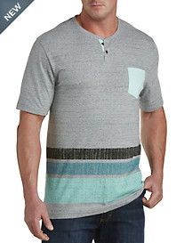PX Clothing Printed Stripe Henley
