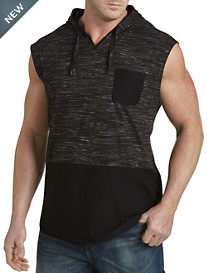 PX Clothing Contrast Sleeveless Hoodie