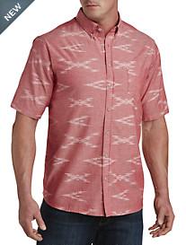 PX Clothing Reverse-Print Chambray Sport Shirt