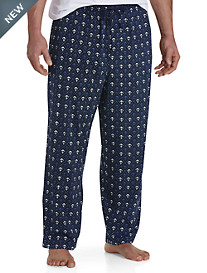 Harbor Bay® Anchor-Print Knit Lounge Pants