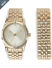 Synrgy™ Goldtone Bracelet Watch