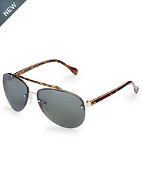 True Nation® Metal Tortoise Aviator Sunglasses