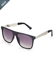 True Nation® Plastic Smoke Retro Sunglasses