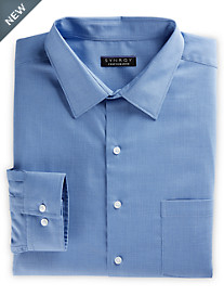 Synrgy™ Performance Stretch-Collar Patterned Dress Shirt