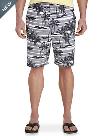 Island Passport® Printed Floral Stripe Swim Trunks