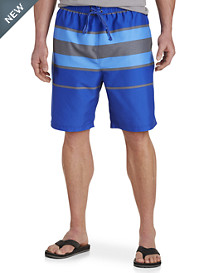 True Nation® Heather Stripe Swim Trunks