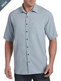 Harbor Bay® Grid-Pattern Microfiber Sport Shirt