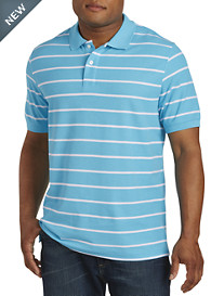 Harbor Bay® Wide Stripe Piqué Polo