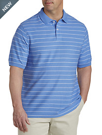 Harbor Bay® Mini Stripe Piqué Polo