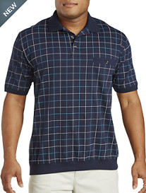 Harbor Bay®  Double Square Print Banded-Bottom Shirt