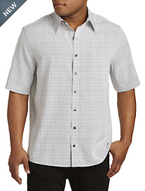 Synrgy™ Small Plaid Microfiber Sport Shirt