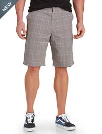 True Nation® Plaid Linen-Blend Shorts