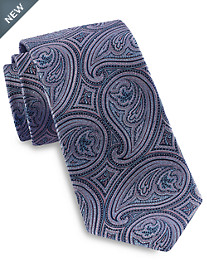 Gold Series® Designed In Italy Large Repeating Tonal Paisley Tie