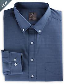 Gold Series Mini-Grid Patterned Dress Shirt