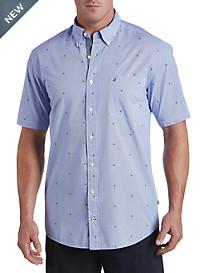 Nautica® Ship Wheel Printed Sport Shirt