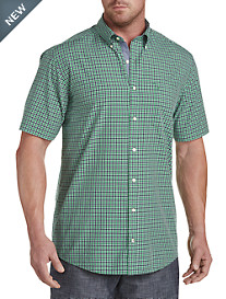 Nautica® Out Rolling Green Plaid Sport Shirt