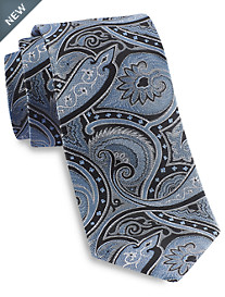 Gold Series® Designed in Italy Large Exploded Paisley Silk Tie