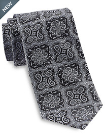 Gold Series® Designed in Italy Repeating Medallion Paisley Silk  Tie