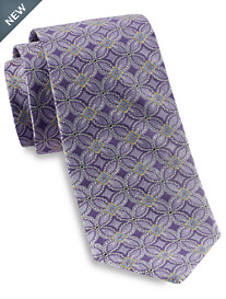 Gold Series® Designed in Italy Large Floral Medallion Silk Tie