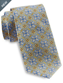 Gold Series® Designed in Italy Large Repeating Floral Silk Tie