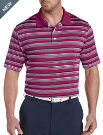 Reebok Textured Mult-Stripe Speedwick Polo
