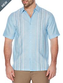 Cubavera® Yarn-Dyed Panel Sport Shirt