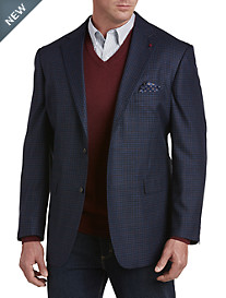 Oak Hill® Jacket-Relaxer™ Windowpane Sport Coat