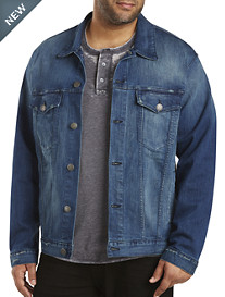MVP Collections Vintage Wash Denim Jacket
