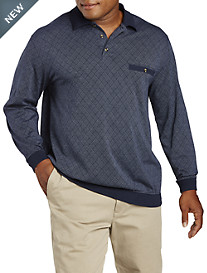 Harbor Bay® Argyle Jacquard Banded-Bottom Shirt