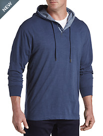 True Nation® Blue Button Placket Hoodie