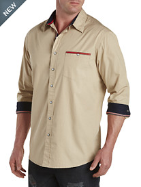 True Nation® Garment-Washed Sport Shirt