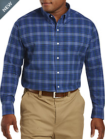 Oak Hill® Medium Plaid Burshed Oxford Sport Shirt