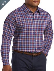 Oak Hill® Small Plaid Burshed Oxford Sport Shirt