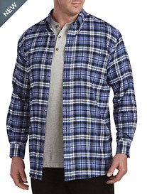 Harbor Bay® Large Plaid Flannel Shirt