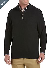 Oak Hill® Mockneck Textured Charcoal Sweater