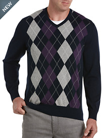 Harbor Bay® V-Neck Argyle Pullover