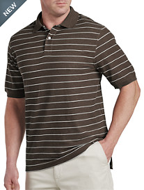 Harbor Bay® Heather Stripe Polo