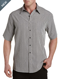 Harbor Bay® Microfiber Small Plaid Sport Shirt
