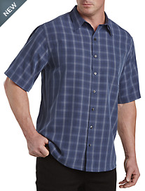 Synrgy™ Large Plaid Microfiber Sport Shirt