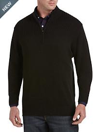 Synrgy™ Ribbed-Knit Shoulder 1/4-Zip Pullover