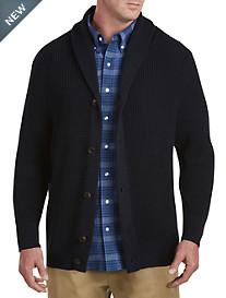 Oak Hill® Shawl-Collar Cardigan