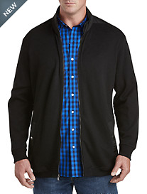Synrgy™ Nylon-Trimmed Sweater Jacket