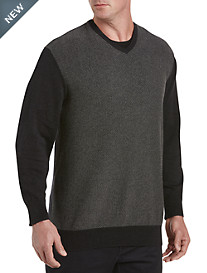 Synrgy™ Patterned V-Neck Pullover