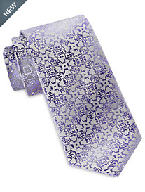 Synrgy™ Ground Geometric Floral Tie