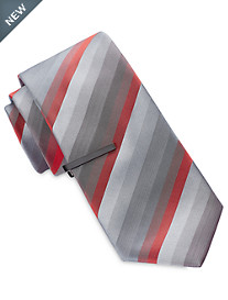 Gold Series® Tonal Multi-Stripe Tie with Tie Bar