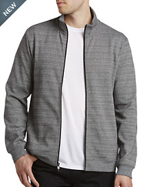 Perry Ellis® Full-Zip Jacquard Knit Shirt
