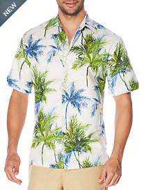 Cubavera® Digital Palm Tree Print Sport Shirt