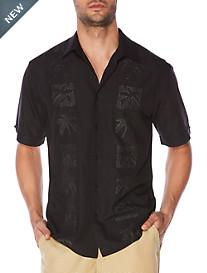 Cubavera® Palm Tree Panel Sport Shirt